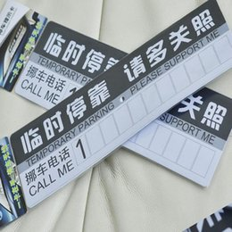 Wholesale Car parking card phone card number sign temporary the stop sign dock brand message board supplies supermarket