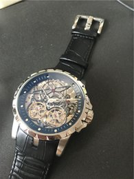 New arrival fashion style mechanical watch top brand watches leather strap wristwatch AAA quality Skeleton watches silver black face 213