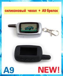 Sistema de alarma a distancia un coche en venta-La caja alejada del silicón del regulador del LCD de Wholesale-Starlionr A9 LCD para el sistema de alarma bidireccional del coche 2-Way Starlionr A9 LCD teledirigida libera el envío