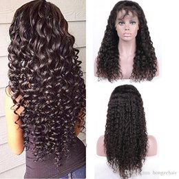 Brazilian Virgin Human Hair Full Lace Wigs Deep Wave Glueless Full Lace Wigs For Black Women Lace Front Wigs With Baby Hair
