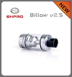 Billow v2 à vendre-Original Ehpro Billow V2.5 RTA 6.0ml Rebuildable Tank Billow V2.5 RTA Atomizer Billow V2 V3 Noir et Argent