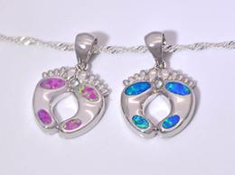 Wholesale & Retail Fashion Jewelry Fine Blue Pink Fire Opal Stone Silver Plated Pendants For Women PJ16021405