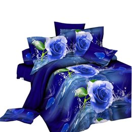 sheets comforters Promo Codes - Wholesale-2015 hot 3D bedding sets king size bed linen include duvet cover bed sheet pillow cases reactive printing comforter bedding set
