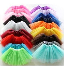 Wholesale Candy Color Kids Tutu Skirt Dance Dresses Baby Bubble Skirt Girls Tutu Dress ballet skirt Pettiskirt clothes colors MC0262