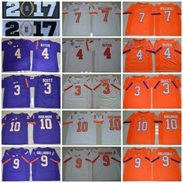 Wholesale 2017 College Football Jerseys Clemson Tigers DeShaun Watson Wayne Gallman II Artavis Scott Ben Boulware Mike Williams Watkins