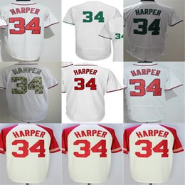 2017 Mens Womens Kids Toddlers Washington #34 Bryce Harper White Cool Flex Base Baseball Jerseys Cheap
