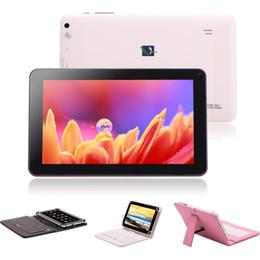 """Acheter en ligne Dual core tablet pc-Stocks américains! IRULU 9 """"pouces Android 4.4 ALLwinner A33 tablette PC Quad Core 8 Go capacitif double caméra avec le clavier"""