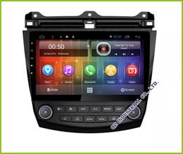 Consola gris en venta-Coche DVD GPS de Android 6.0 para Honda Accord 7 2003 2004 2005 2006 2007 3G 4G Wifi Bluetooth mapas Cámara trasera