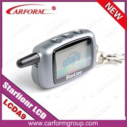 Descuento sistema de alarma a distancia un coche Regulador alejado al por mayor-Libre del envío Starlionr A9 LCD para el sistema de alarma de dos vías del coche Sistema de alarma del coche de la manera 2 Teledirigido de Stralionr A9 LCD