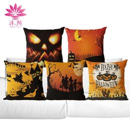muchun Brand Thicken Pillow Case Halloween Style 2017 New Arrival 45*45cm Christmas Linen Home Textiles Decorative Pillow Cover
