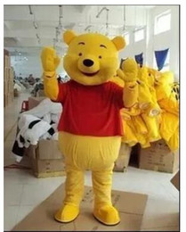 Wholesale High quality Real Pictures Deluxe Winnie the Pooh POOH BEAR Mascot costume Adult SIZE Halloween Party Children Fancy dress factory direct