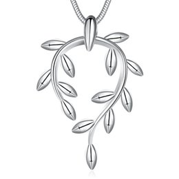 2017 hot selling europe Fashion Sterling European and American fashion lady branch silver plated necklace free shipping
