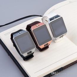 Promotion apple iphone montres intelligentes DZ09 Smart Watch Dz09 Montres Wrisbrand iPhone Android Watch Smart SIM Intelligent Téléphone Mobile Watch État de sommeil Smart Watch Retail Package