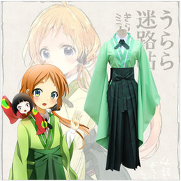 Anime Urara Meirochou Cosplay Costumes Natsume Nono Ensembles de vêtements Kimono Uniform Dress Role Party Wear (Tops + Shirt + Pants + Tie) à partir de fabricateur