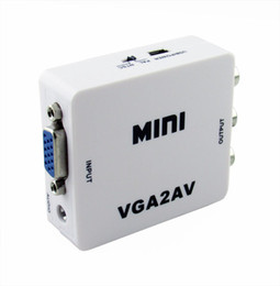 Wholesale High Quality HD P Digital VGA to AV CVBS Converter with audio input for PC laptop to TV