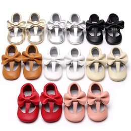 16 colors New baby moccasins soft sole shoes Genuine Leather Toddler Girls Bow tassel shoes princess girl prewalker C1719