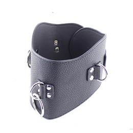 Best Quality Restraint BDSM Slave Posture Collar Bondage No Bow Leather Collar for Sex Slave Adult Sex Toys