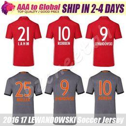 Robben Soccer Jersey 2017 Futball Trikot VIDAL COATA LEWANDOWSKI GOTZE BOATENG Football jersey 16 17 Grey Muller Soccer shirts