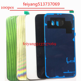 100pcs OEM A quality For Samsung Galaxy S6 G920 S6 edge g925 edge plus g928 back cover glass Battery Door Housing + Adhesive Sticker