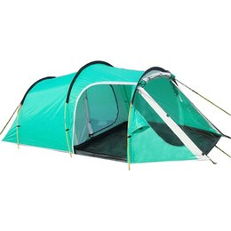 Outdoor Hiking Camping Tent 3-4 Person Tunnel Tents Double Layers Waterproof Camping Tent