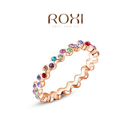 ROXI exquisite rose-golden fresh Butterfly rings,fashion jewelry,high quality,newest arrival,Christmas gift 2010413160b