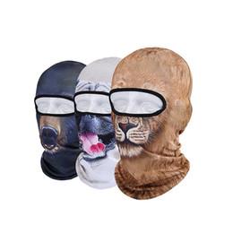 Головные уборы для собак Онлайн-2017 Горячие продажи 2016 Маски 3D Cap Собака животных Открытый спортивный велосипед Велоспорт Мотоцикл лыж Hood Hat Veil Балаклава UV Маска для лица