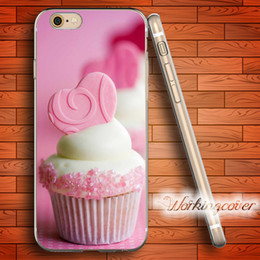 Coque Pink Cupcake Soft Clear TPU Case for iPhone 6 6S 7 Plus 5S SE 5 5C 4S 4 Case Silicone Cover.