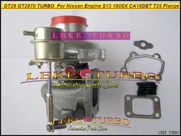 Wholesale New GT28 GT2870 AR Turbo Turbine Turbocharger For Nissan engine S13 SX CA18DET T25 Flange