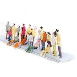 Compra Online Figuras de la gente modelo-Nuevos 100pcs pintados modelo tren personas figuras (1 a 150)