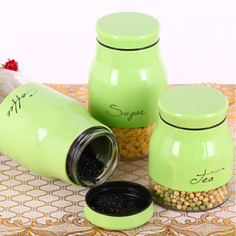 Wholesale Glass Sealed Food Grain Seal Storage Tank Containers Bottle Food Container Transparent Plastic Jar Canister For Home Kitchen