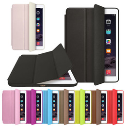 2017 air sans cuir Vente en gros - Sannysis Luxury Slim Smart Case pour iPad Air 2 PU Leather Stand Magnetic Case Cover 2014 Versions récentes Livraison gratuite peu coûteux air sans cuir