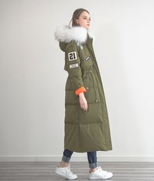 Wholesale Best Selling Winter Women Long Outerwear Hooded Fur Warm Down Jackets Clothing Fashion Womens Down Parkas