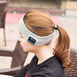 Wholesale Bluetooth Earphone For iPhone Plus Headband Edge Yoga Hat Sport Cap Headset Wireless Head Band Earplug Music Player Handphone Handfree Cap