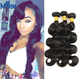 MikeHAIR Péruvien Indien Brésiliens Cheveux 3 Bundle 8-34 pouces 6A Coréen Brésilien Corps Style Wave Mike Hair Products A à partir de 14 pouces brazilian vague de corps fabricateur