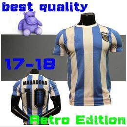 Retro Version ARGENTINA Messi Shirts 1978 Soccer Shirts DI MARIA HIGUAIN Jersey TEVEZ Football lshort sleeves Camiseta de futbol shirt