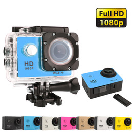 Mini cámaras wi fi en venta-Venta al por mayor-Deportes de acción 1080P Cámara 2.0 pulgadas 30M ir impermeable Pro 12MP Full HD DV Wi-Fi cámara Mini Cámaras digitales de fotos