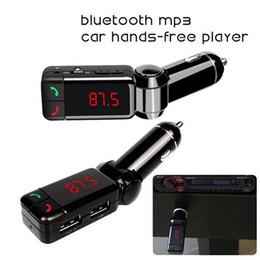 Wholesale Bluetooth FM Transmitter Car MP3 Audio Player Wireless FM Modulator Hands free Calls Car Kit Dual USB Charger Display Window