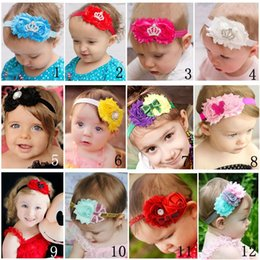 12 colors Princess Crown Shabby Chiffon Baby Toddler Headband sequin bows