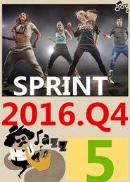 ON Top-sale 2016.10 October Q4 New Routine SPRINT 05 HIIT 30 Minutes Exercise Fitness Indoor Bicycle SPRINT05 DVD video + CD music