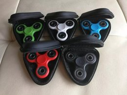 Stockage pour les jouets en Ligne-NOUVEAU 3 Types Fidget Spinner Pouch Hand Spinner Toys Live Storage Sacs clé téléphone cable USB CD carte mémoire sac 100pcs multicolore option DHL