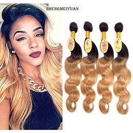 Brazilian Virgin Hair Ombre With Closure Blonde Ombre rosa hair products Honey Blonde 4 Bundles With Closure Brazilian Hair