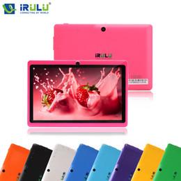 Promotion tablettes quad core Vente en gros iRULU X1 eXpro 7 '' Tablet PC Andriod 4.4 Quad Core Tablet Dual Camerals soutien Wifi 8G ROM moins cher