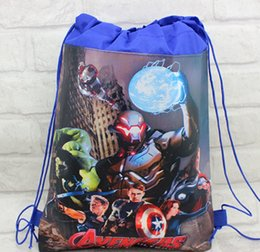 24 Pcs Avengers Children Printing Cartoon Drawstring School Backpacks Kids School Shoulder Bags,mochilas school kids