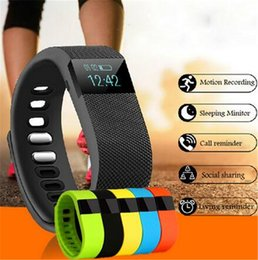 tracker d'activité de smartband Promotion TW64 Nouveau bracelet de 9 couleurs Smart Band Fitness Activity Tracker Bluetooth 4.0 Smartband Bracelet Sport pour IOS Android Cellphone
