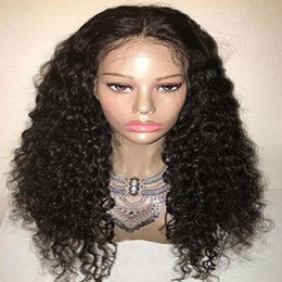 Middle part hair style Glueless Synthetic Lace front Wig Peruvian Lace Curly Hair Wigs with Baby Hair Heat Resistant Fast Shipping