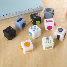 Wholesale Fidget Cube Fun Cube anti irritability and Stress toy Juguet DIY Educational Toys for Girl Boys Adult Christmas Gift