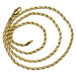 18k Yellow Gold Filled Women Necklace Eye Link chain Jewelry Luxury n290