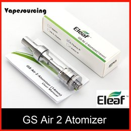 Wholesale Authentic Eleaf ismoka GS Air Atomizer ML Tank GS Air Dual Coil Atomizer Airflow Adjustable for Eleaf istick Basic Kit