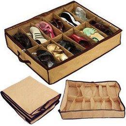 T12 Closet Organizer Home Living Room Bed Storage Holder Box Container Case Storer For 12 Shoes or Slippers