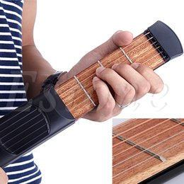 Wholesale Black Vintage Beginner Mini Portable Pocket Guitar Chord Fret Model Travel
